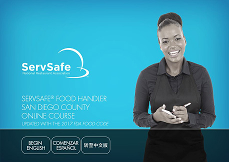click to see details for ServSafe Food Handler San Diego County Online Course